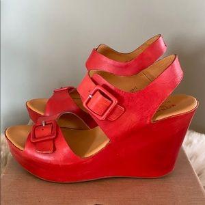 Kork-Ease Susie Wedge Sandals Red Carpet K11105New